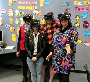 Erica Southgate and Athelstone teachers in VR