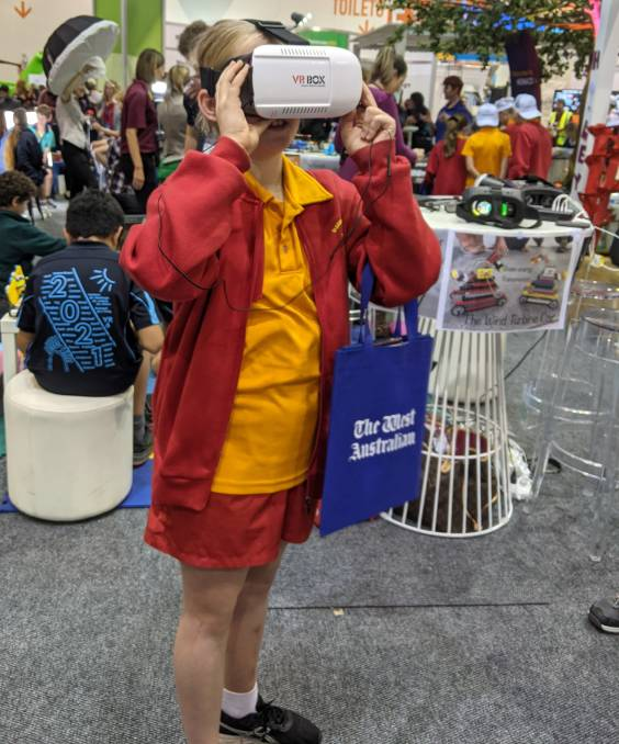 Year 7 Halls Head College students took on virtual reality to learn about history